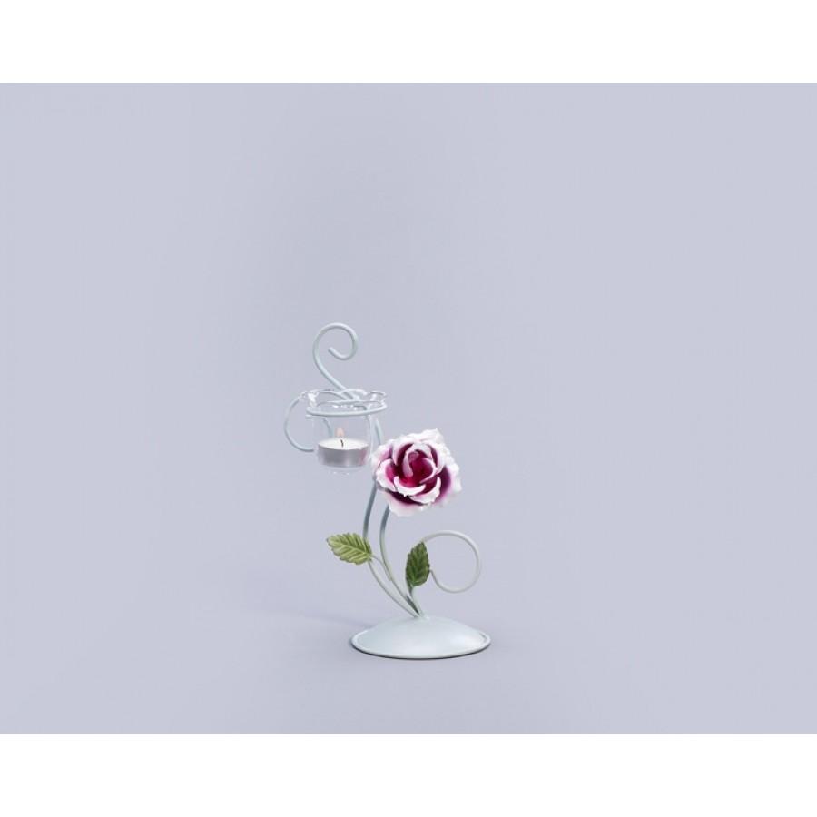 AHD-1089 - Çiçekli Yeşil Mumluk 25*11