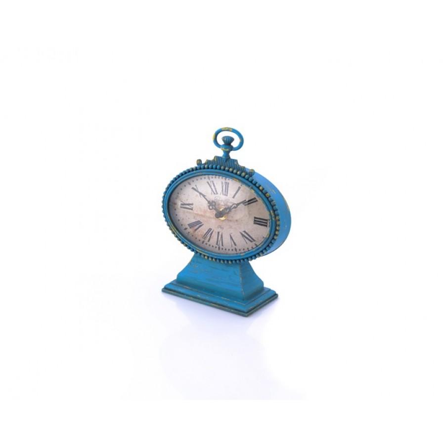 AHD-1275 - Mavi - Ayaklı Masa Saati 21*17