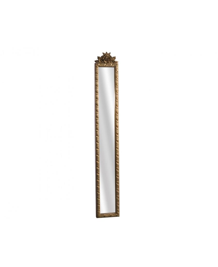 AHD-1690 - Altın - Çiçek Kabartmalı Boy Aynası 121*18