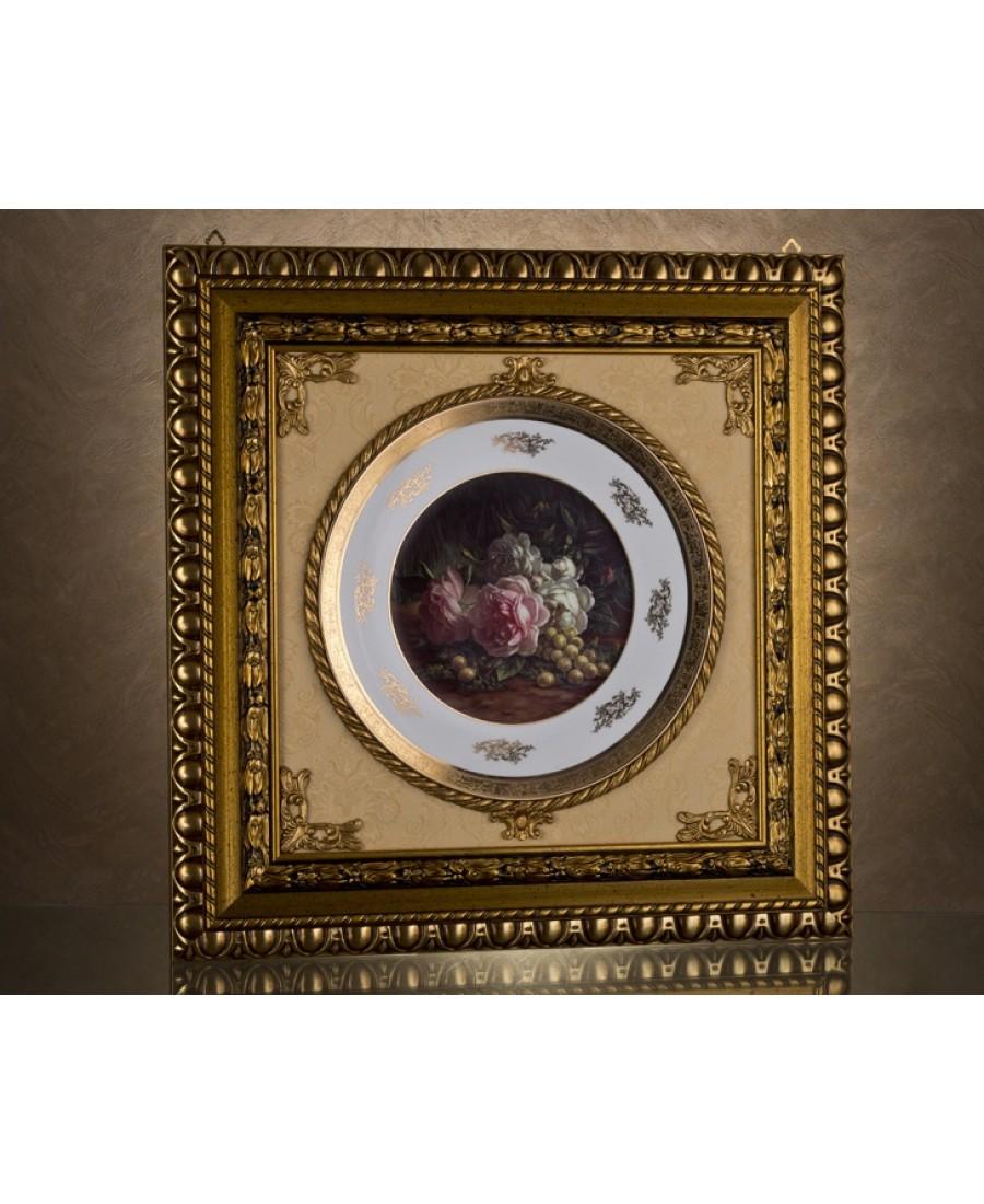 Ahd-1774 - Doğada Güller Kare Tablo-Büyük 70*70