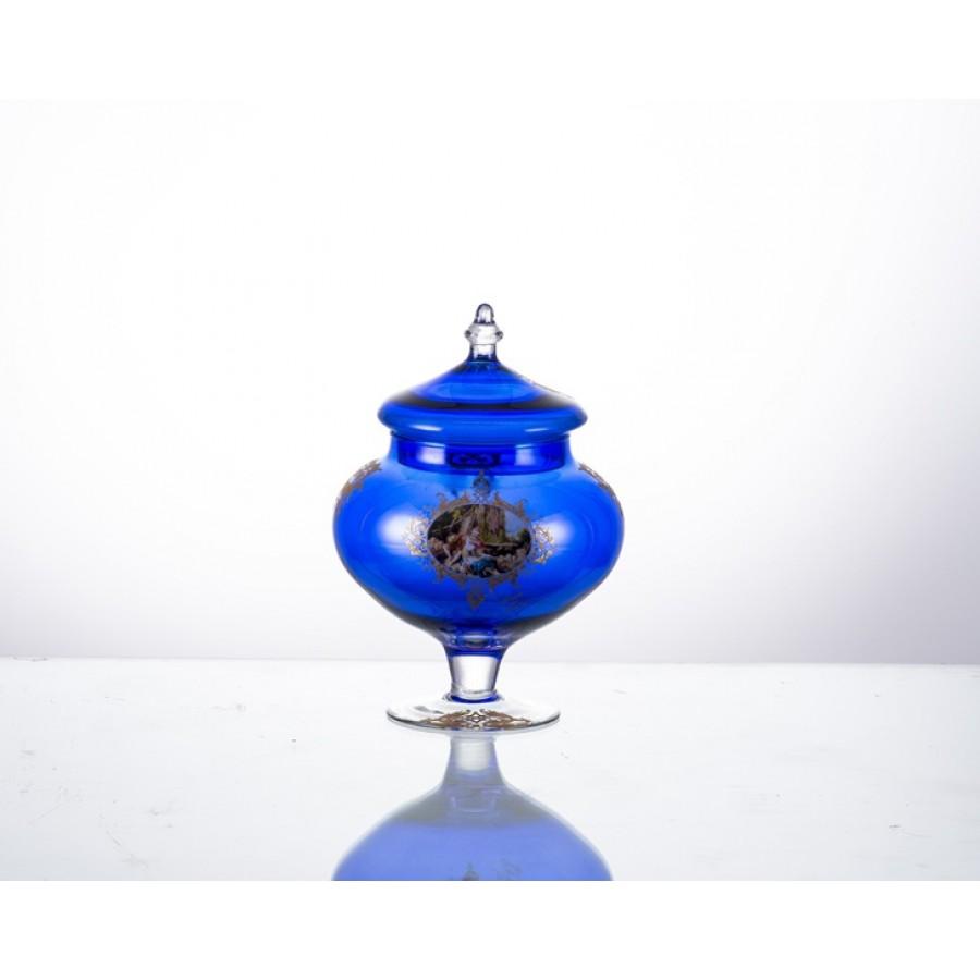 AHD-39059 - Kobalt Mavi Kapaklı K.Şekerlik 27cm.