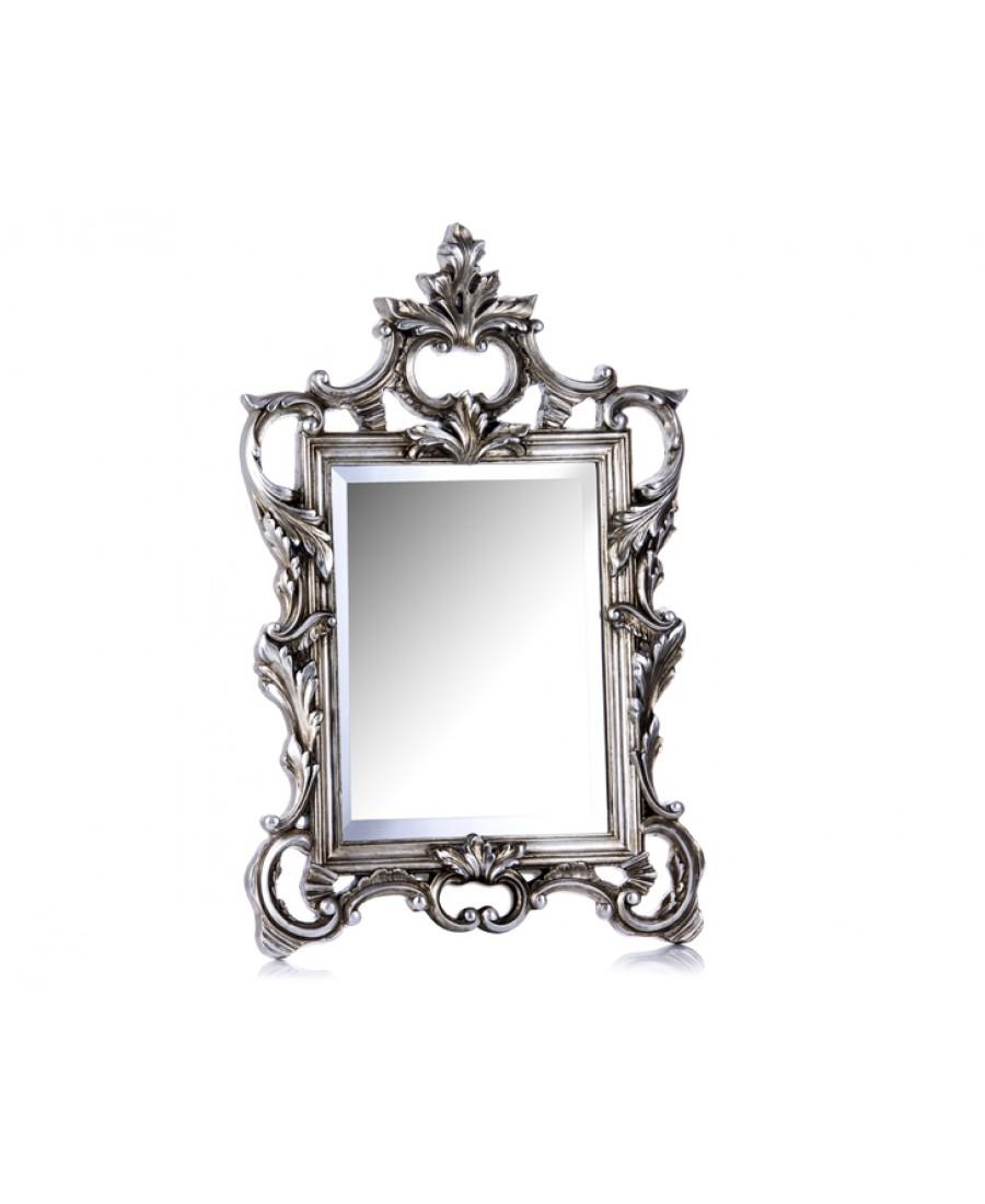 M64-114 - Sarmaşık Kare Büyük Gümüş Ayna 77*50