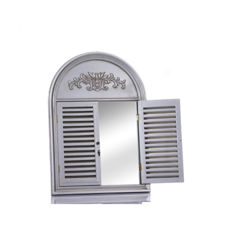 M64-138 - Pencereli Gümüş Büyük Ayna 100*70