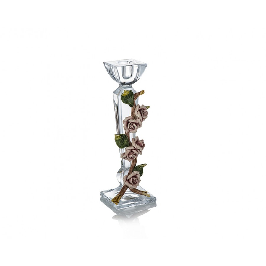 PR03-1025 - Kapitemonte Kristal Kare Tekli Şamdan 26*8