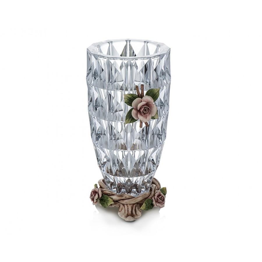 PR03-1026 - Kapitemonte Kristal Yuvarlak Vazo 30*14