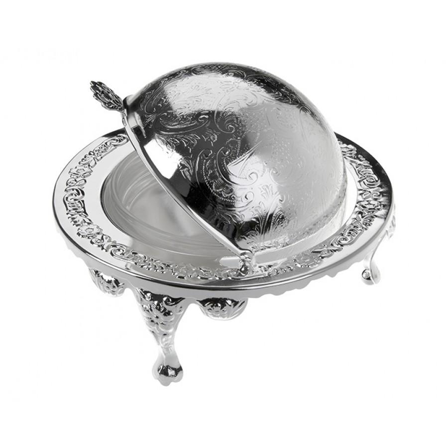PR04-1009 - Gümüş-Cam Tereyağlık 14*12
