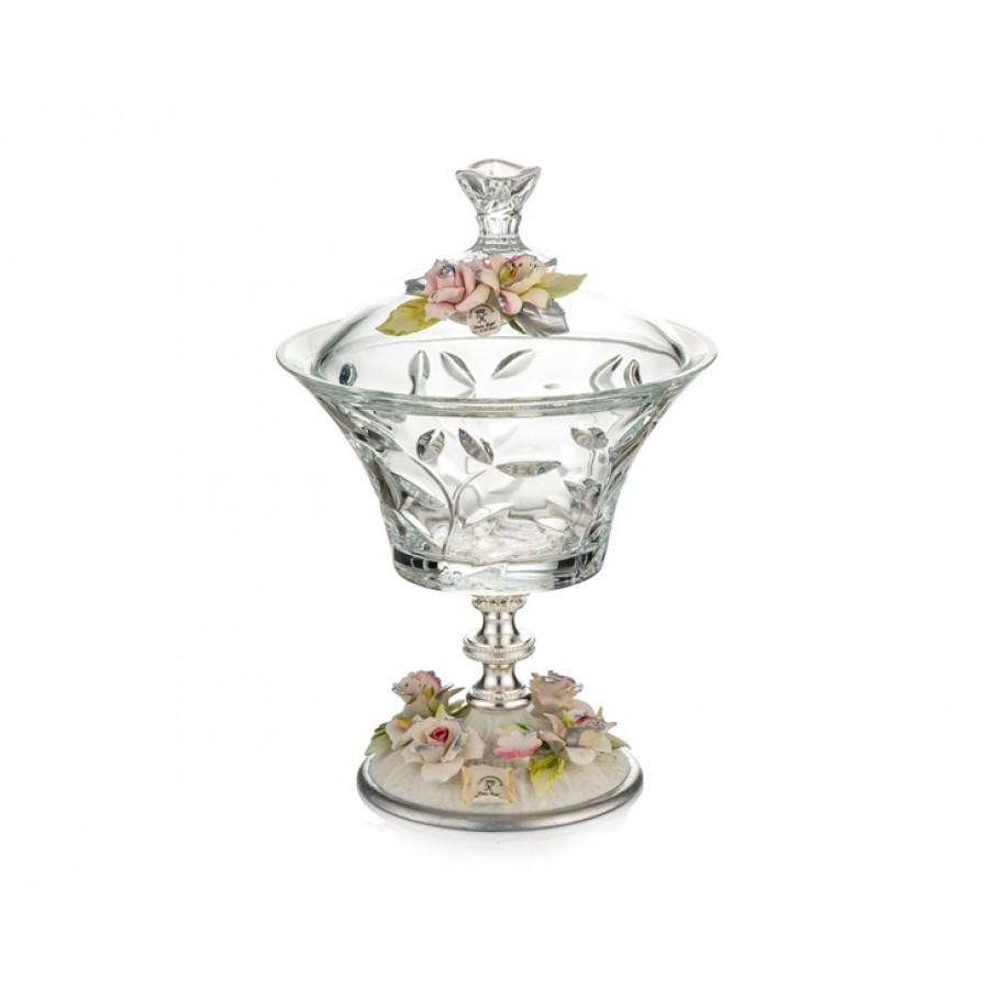 PR05-1079 - Gümüş Kapidemonteli Kapaklı Şekerlik