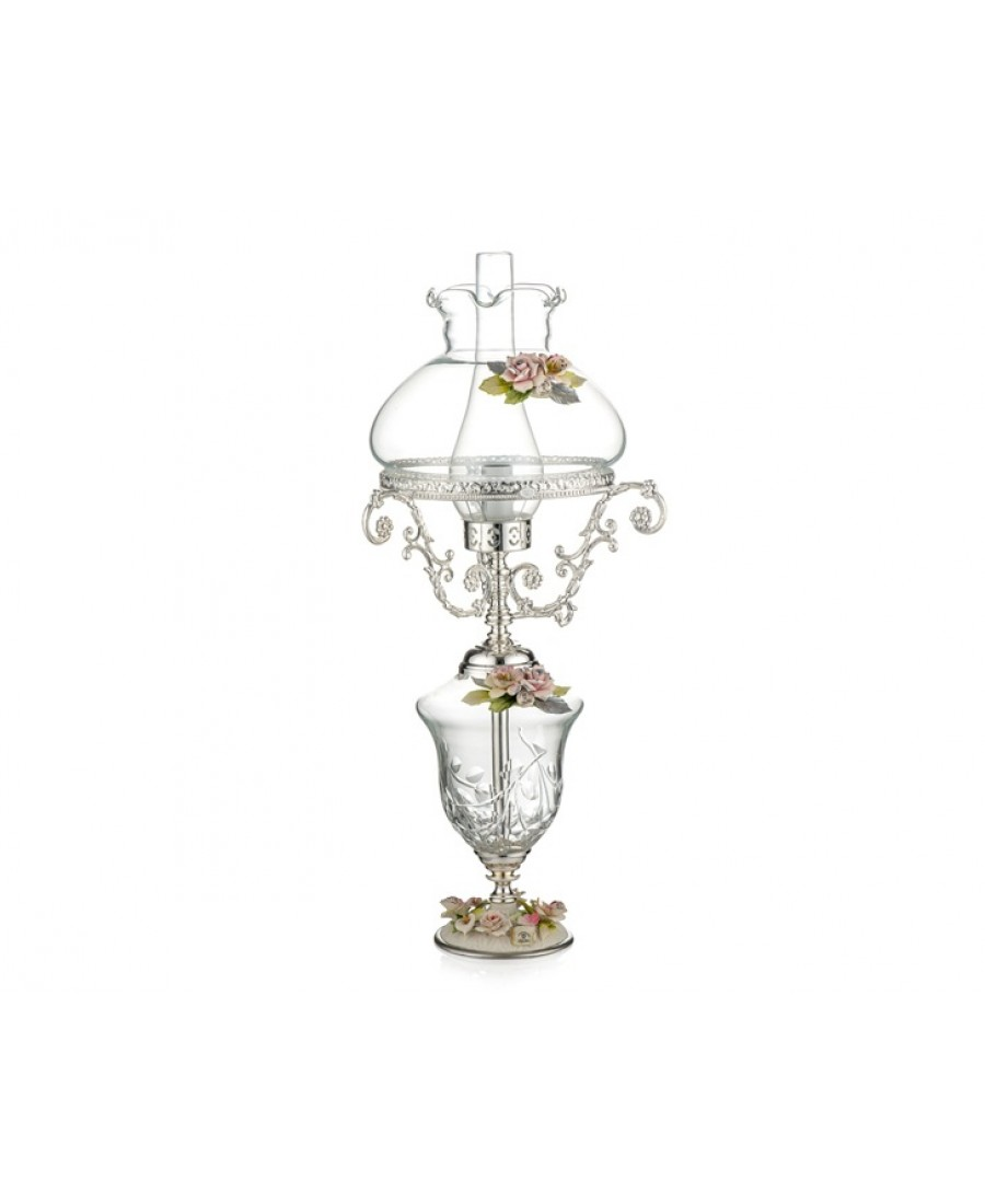 PR05-1086 - Gümüş Kapidemonteli Lamba 48cm