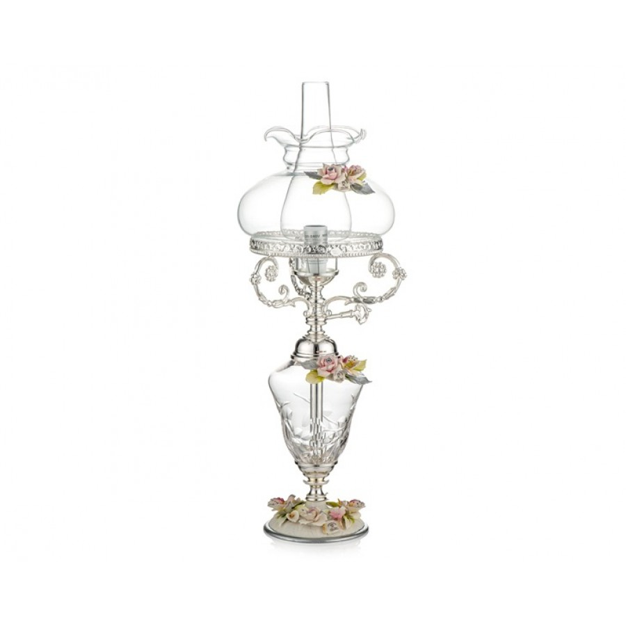 PR05-1087 - Gümüş  Kapidemonteli Lamba 64cm