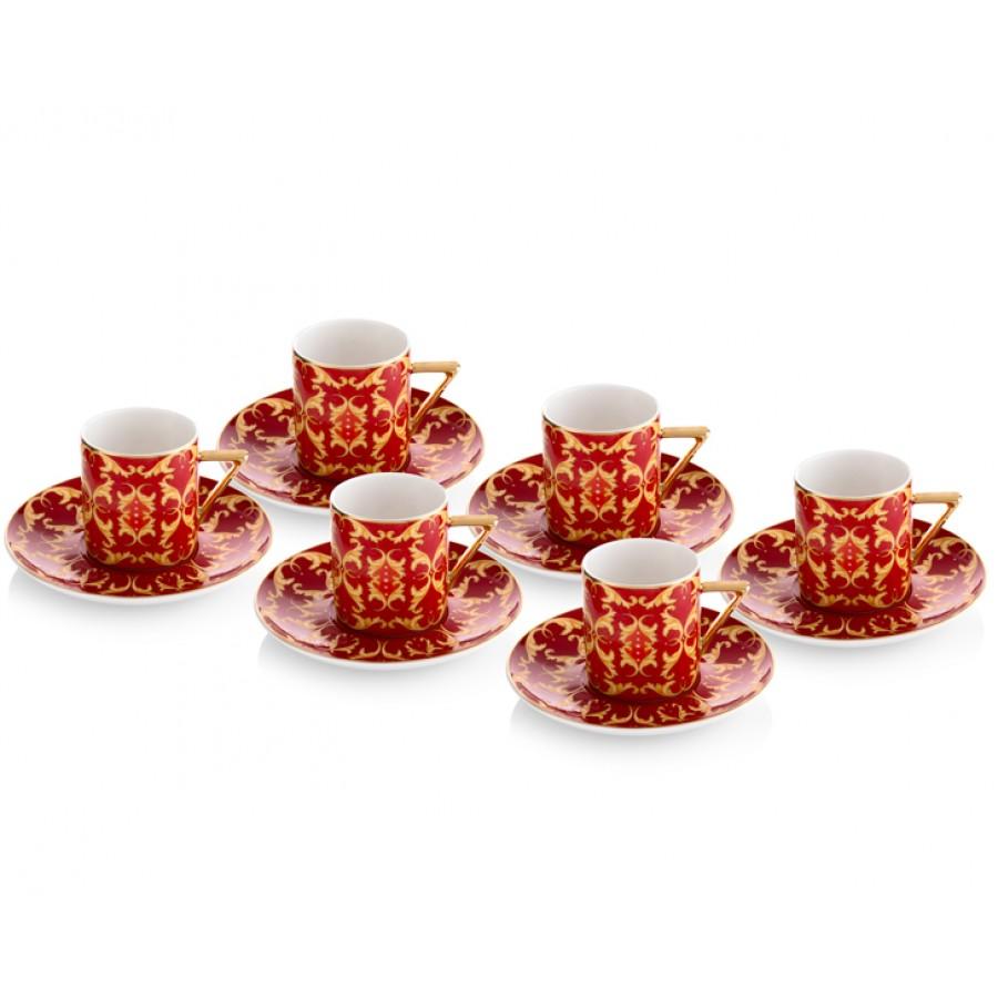 PR08-1010 - İtalyan Tasarım Kırmızı Renkli Türk Kah. Fin.Tk.