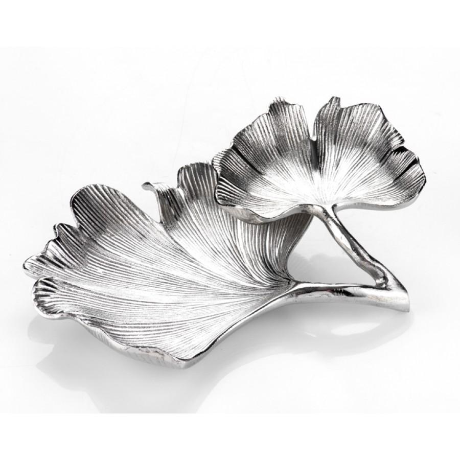 PR09-1031 - Biella Silver 2 Katlı Tabak 30x34 cm