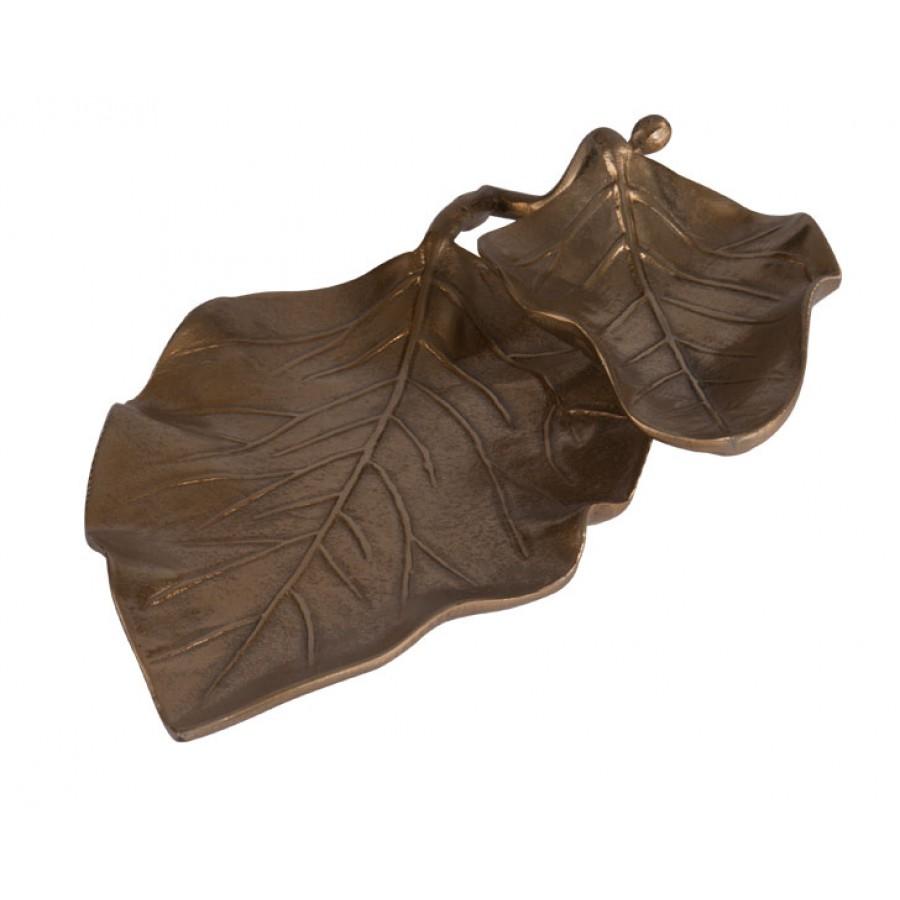 PR09-1048 - Biella Gold 2 Katlı Tabak 40x24 cm