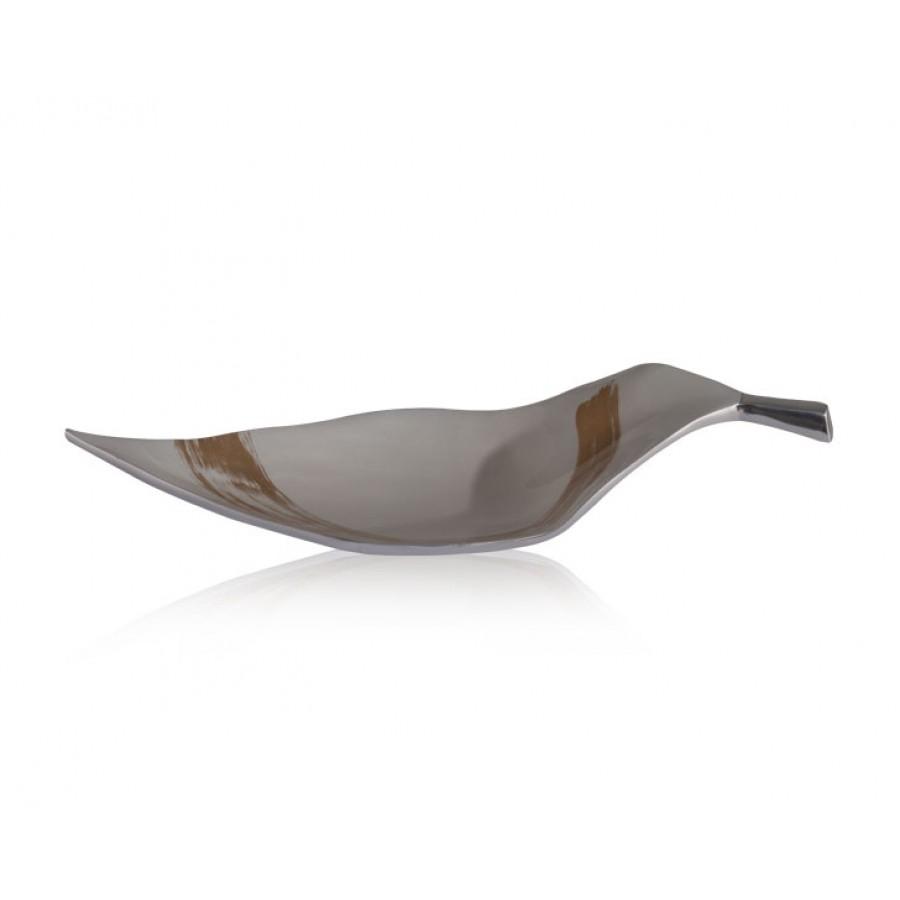 PR09-1060 - Fancy White Kayık Tabak 46x19 cm