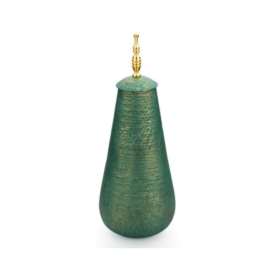 PR10-1006 - Altın Saplı Yeşil Kapaklı Küp 62cm