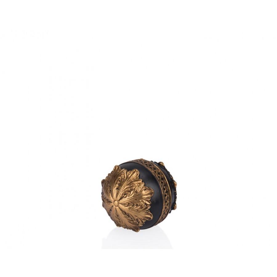 PR12-1004 - Altın Siyah Dekoratif Top 10*10*10