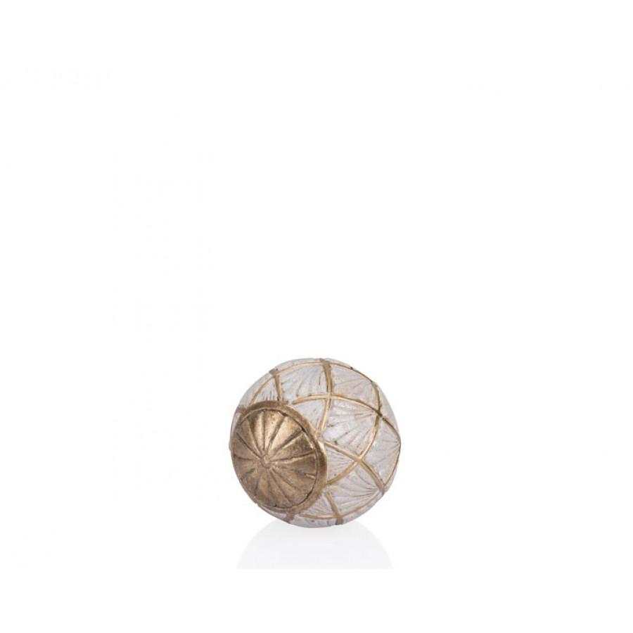 PR12-1017 - Altın Krem Dekoratif Top 10*10*10