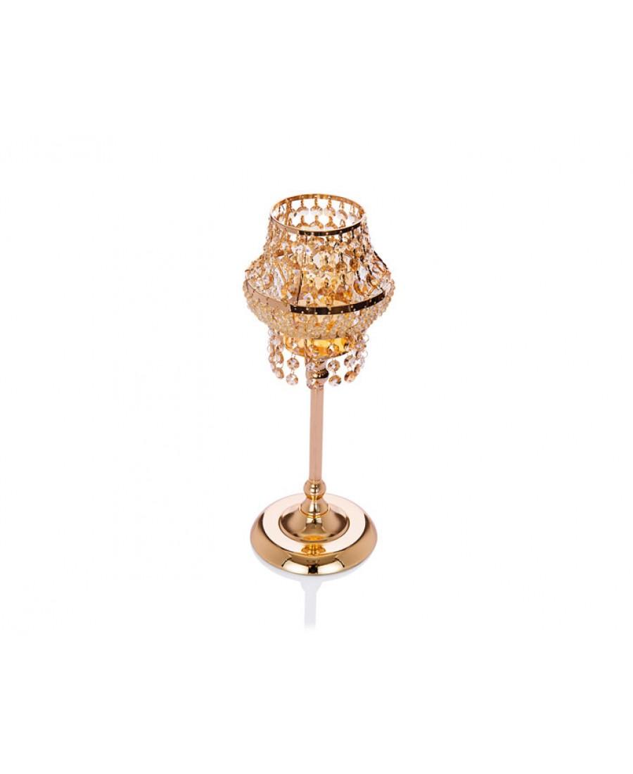 PR14-1078 - Altın Kristal Mumluk 18*18*52