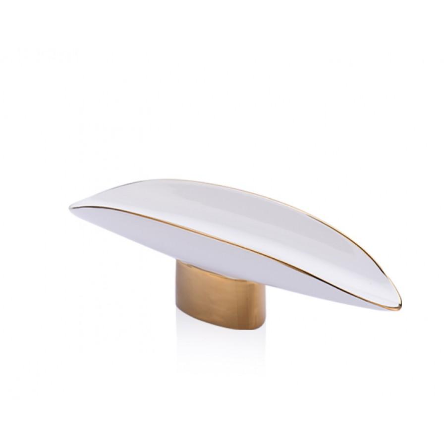 PR20-1020 - Altın- Beyaz Seramik Alt Standlı Servis 33*10