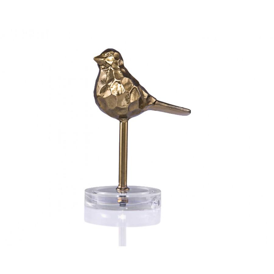 PR24-1001 - Mat Altın Dekoratif Kuş 18*23