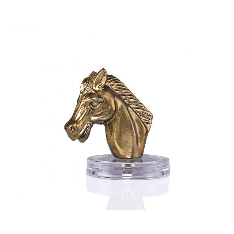 PR24-1002 - Mat Altın Dekoratif At Kafası 13*17