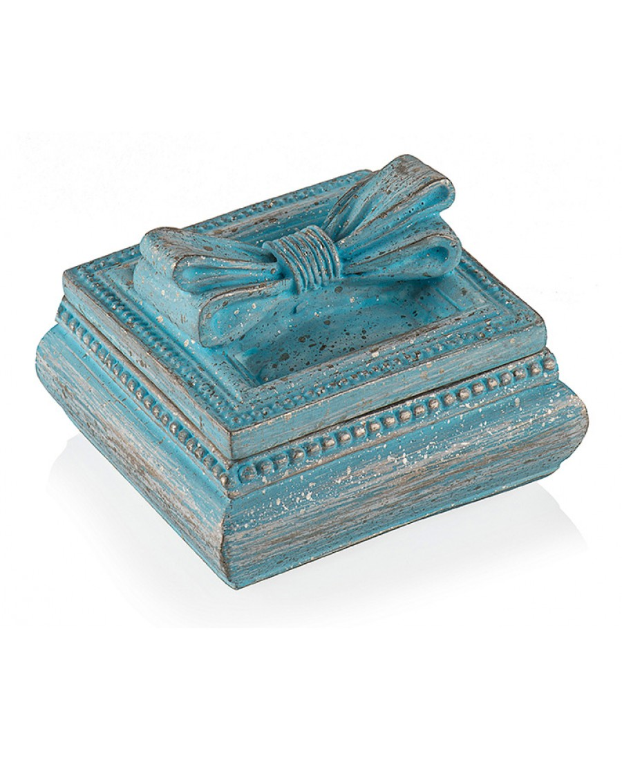 Pr30-1037-Mavi Kurdeleli Mücevher Kutusu 6*6