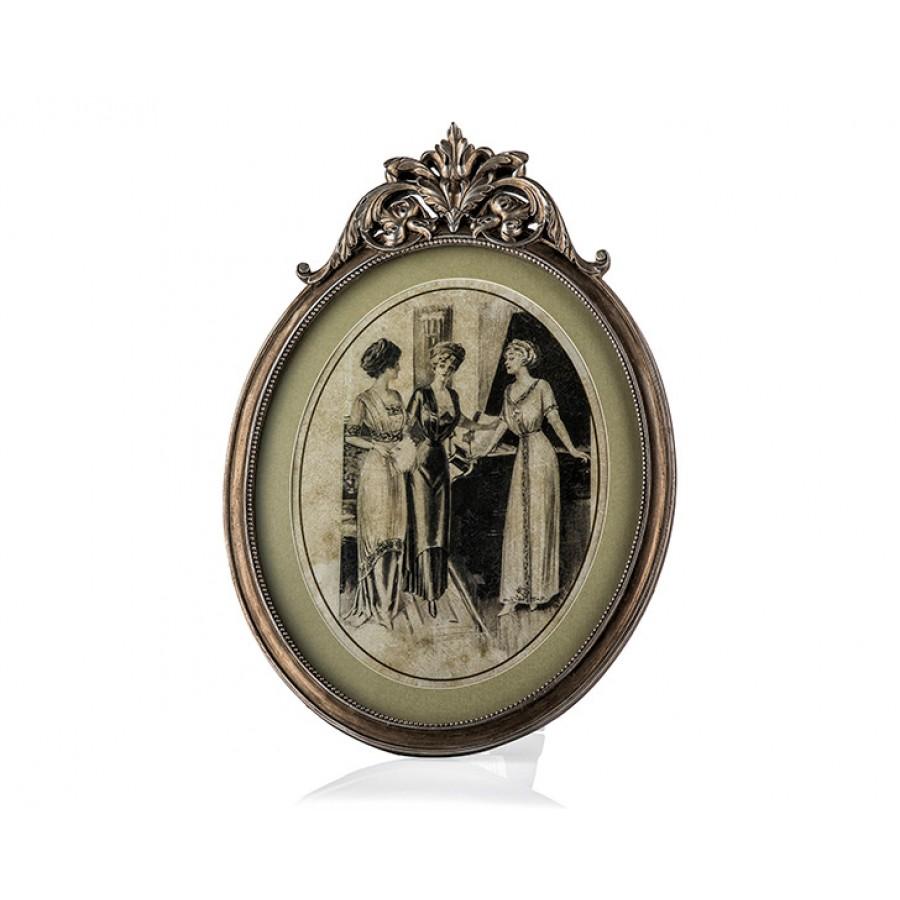 PR30-1055 - İnsan Figürlü Gümüş Çerçeve-Tablo 42*30