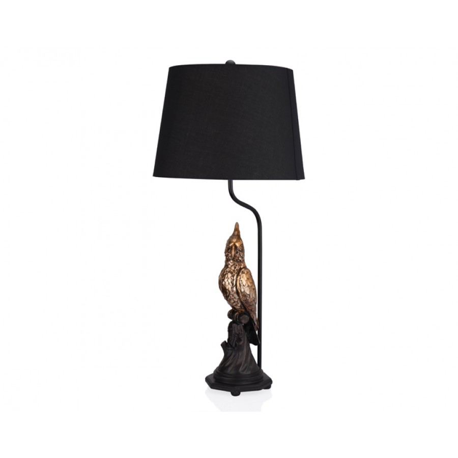 PR35-1010 - Papağan Şekilli Siyah Abajur 38*79