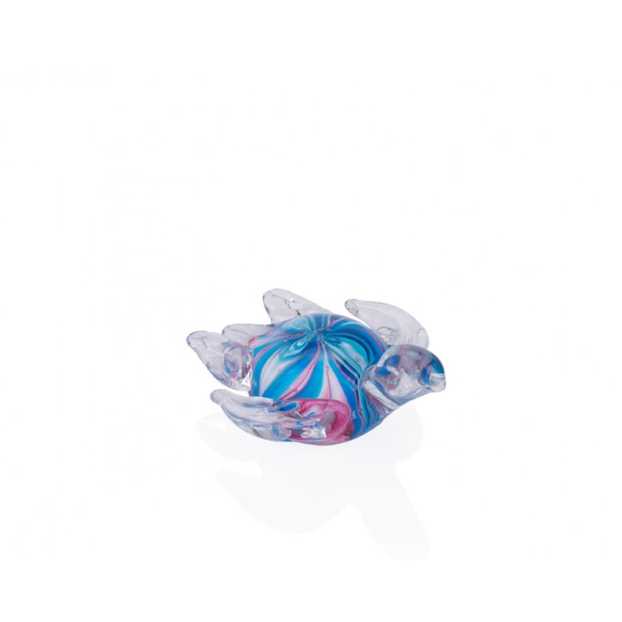 PR36-1002 - Mor Ebruli Cam Kaplumbağa 11*10*5