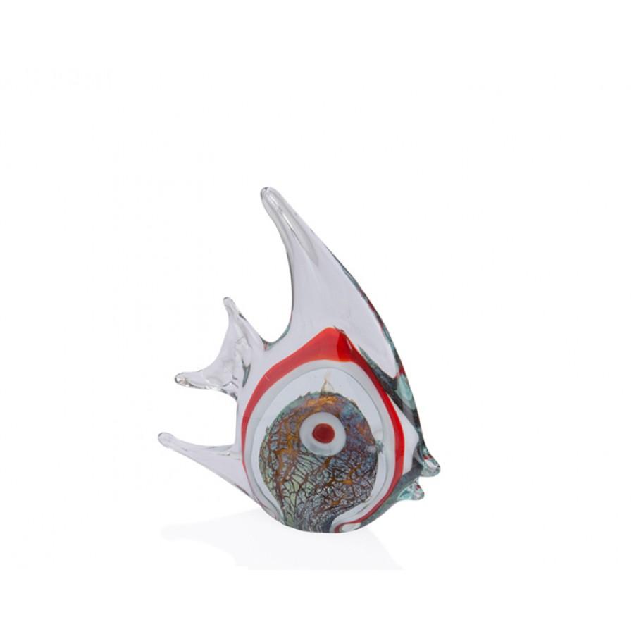PR36-1011 - Kırmızı Cam Balık 21*7*23