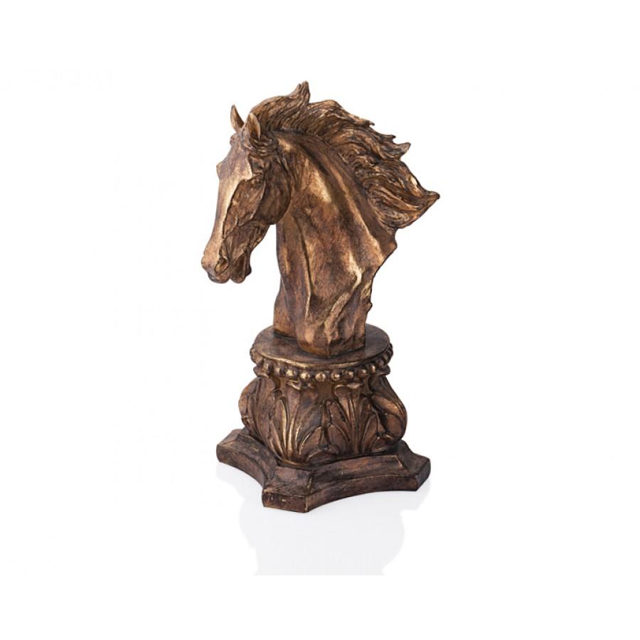 PR39-1001 - Altın-Siyah At Kafası 41cm