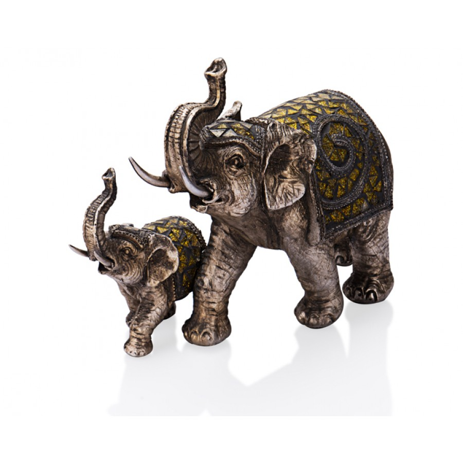 PR39-1004 - Gümüş Fil 26cm