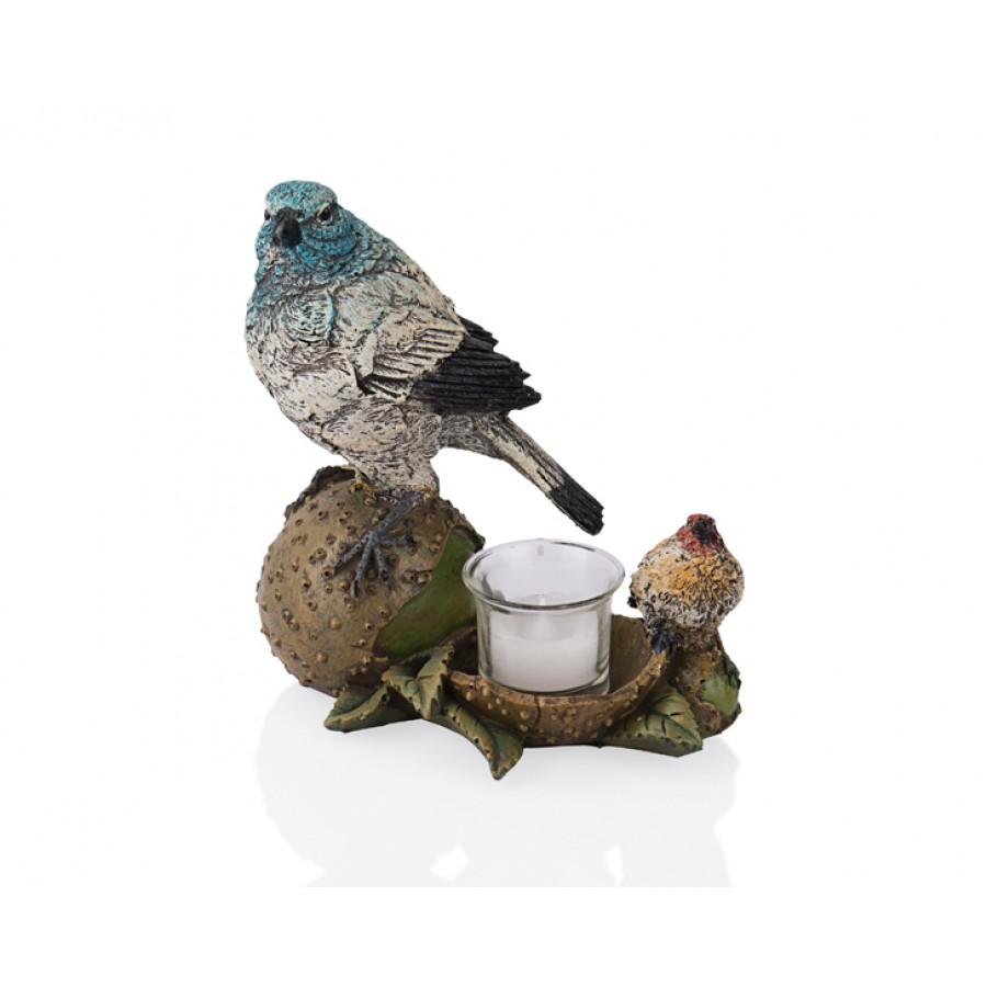 PR39-1008 - Yumurtalı Renkli 2li Kuş 17cm