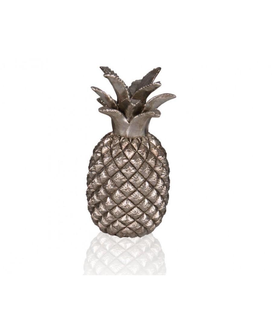 PR39-1028 - Gümüş Ananas Dekor 30 cm