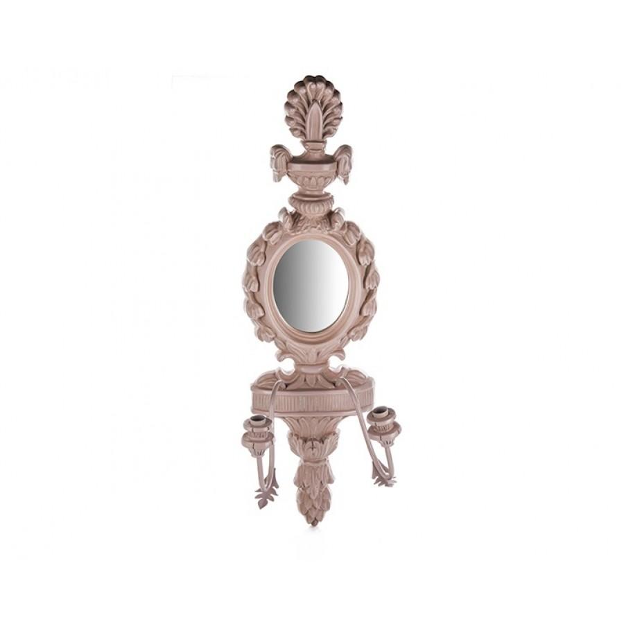 PR42-1007 - Pembe Aynalı Duvar Mumluk 79*22