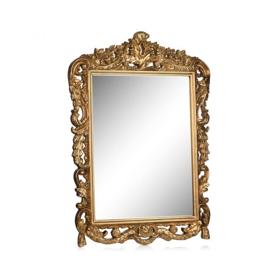 PR42-1054 - Bütün Delikli İşlemeli Altın Ayna 72*52