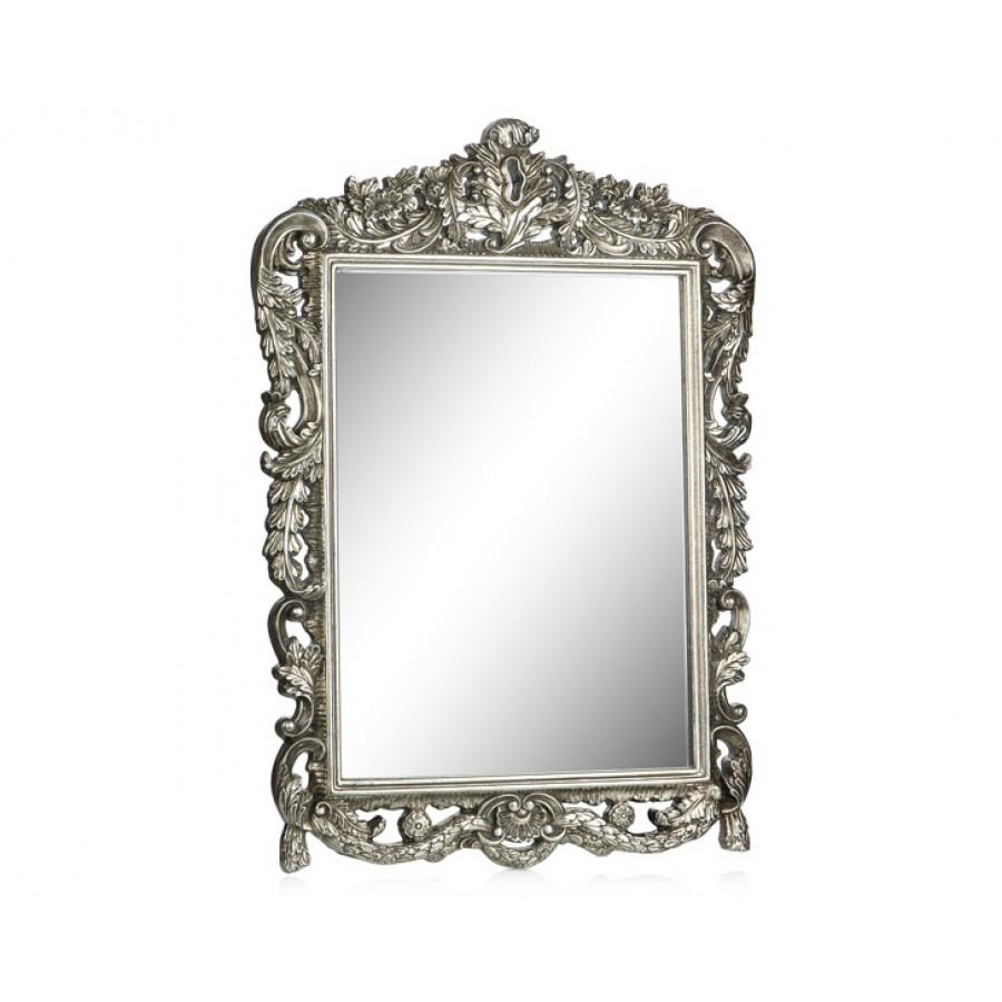 PR42-1055 - Bütün Delikli İşlemeli Gümüş Ayna 72*52