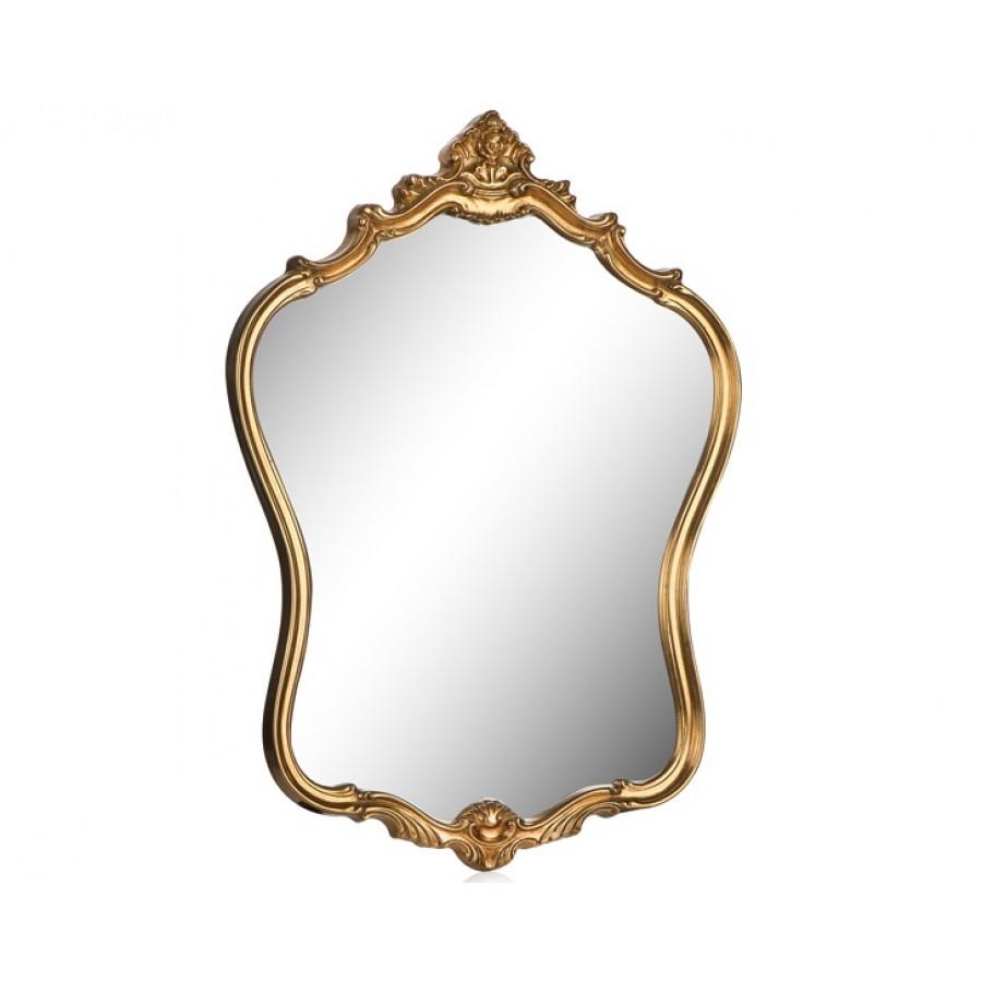 PR42-1056 - Taçlı Altın Şekilli Ayna 72*57