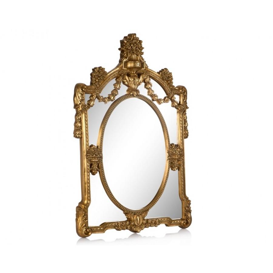 PR42-1058 - Zincir İşlemeli Taçlı Altın Ayna 102*75