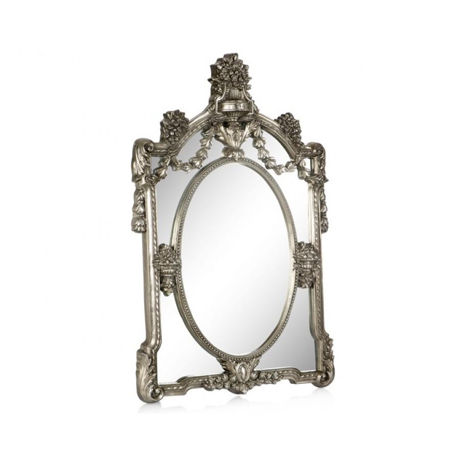 PR42-1059 - Zincir İşlemeli Taçlı Gümüş Ayna 102*75
