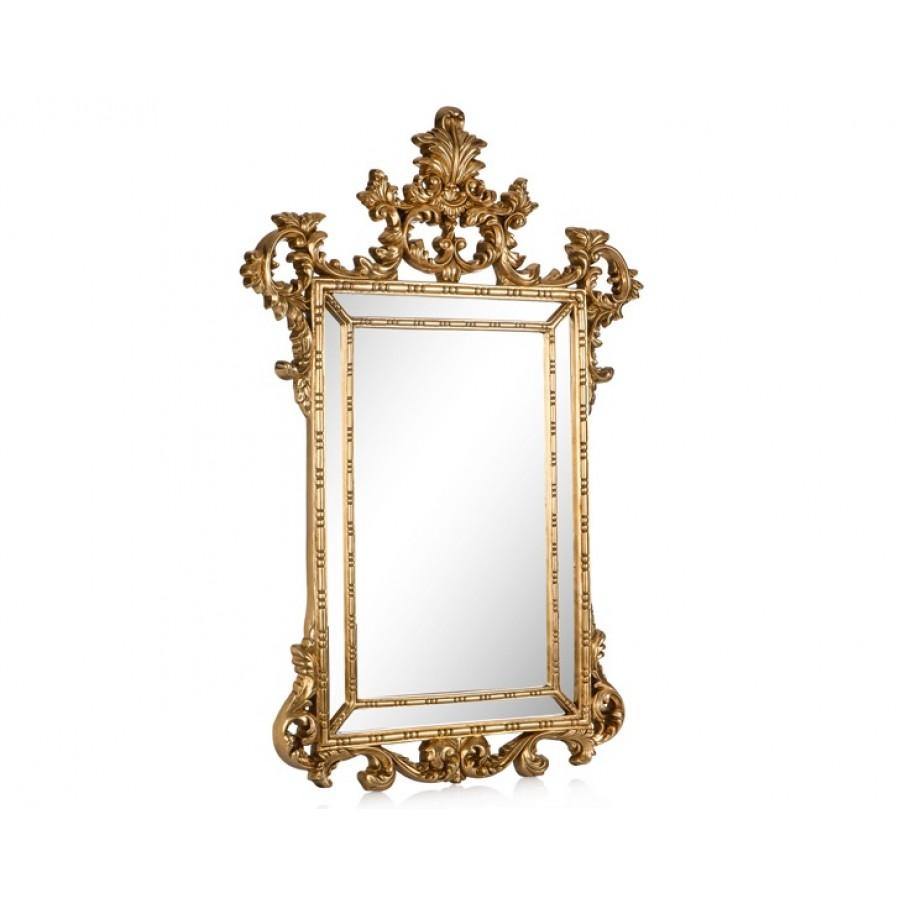 PR42-1060 - İşlemeli Taçlı Altın Ayna 90*61