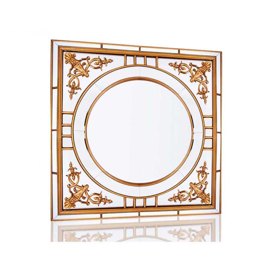 PR42-1070 - Altın İşlemeli Kare Ayna 100*100