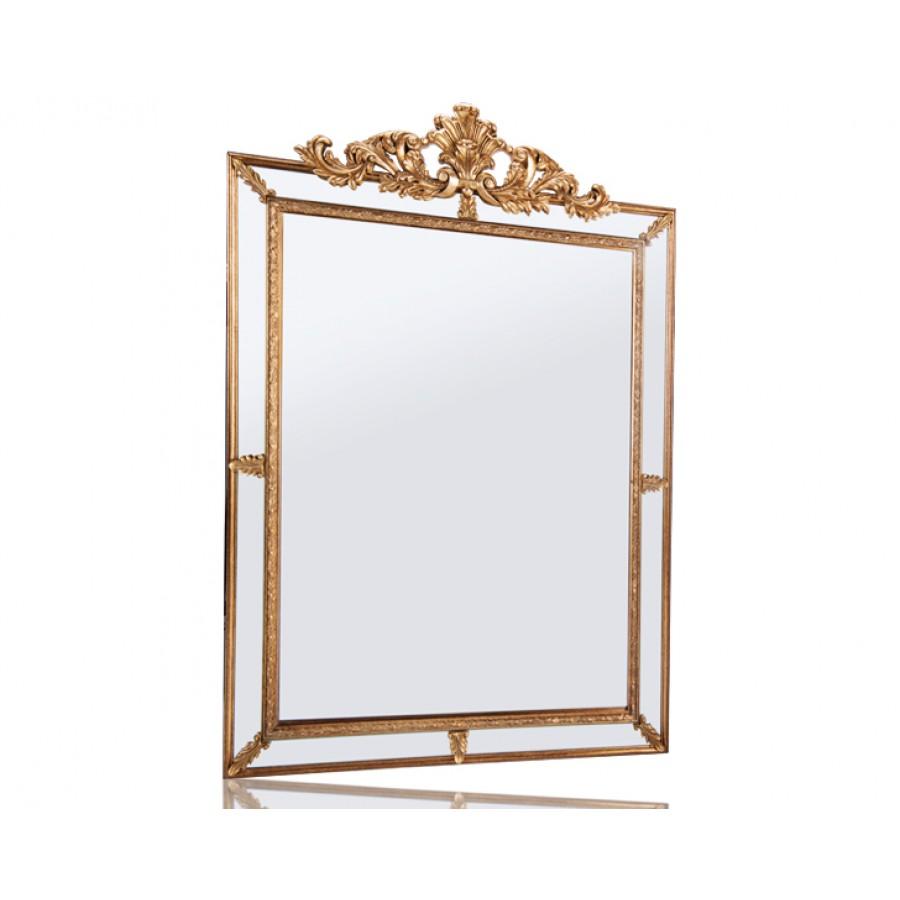 PR42-1074 - Altın Üç Boyutlu Taçlı Ayna 113*80
