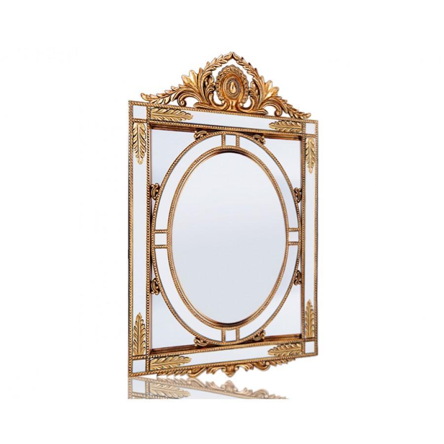 PR42-1076 - Altın Başak Detaylı Taçlı Ayna 100*66