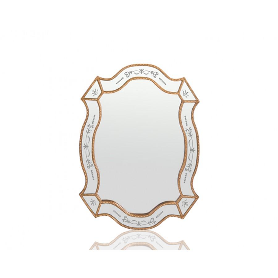 PR42-1079 - Altın Kenarları İşlemeli Ayna 90*67