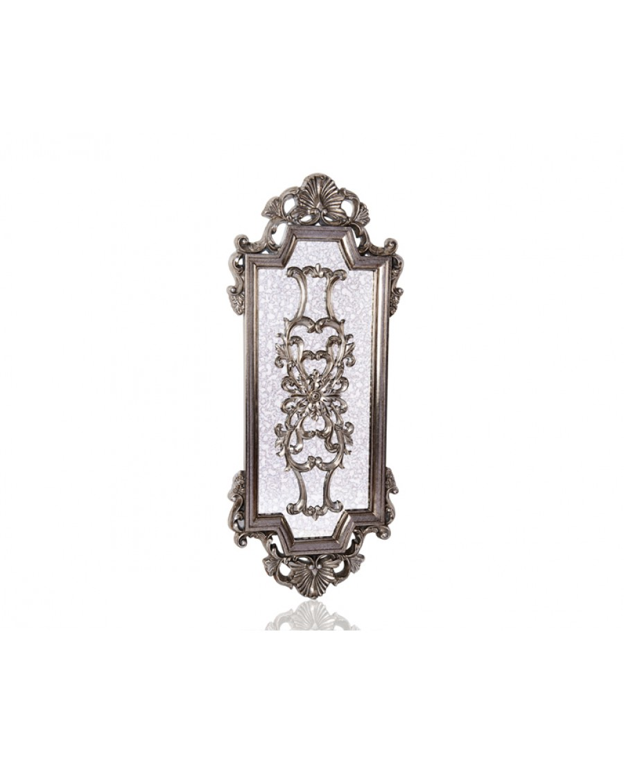 PR42-1084 - Ayna üzeri Gümüş İşlemeli Ayna 124*49