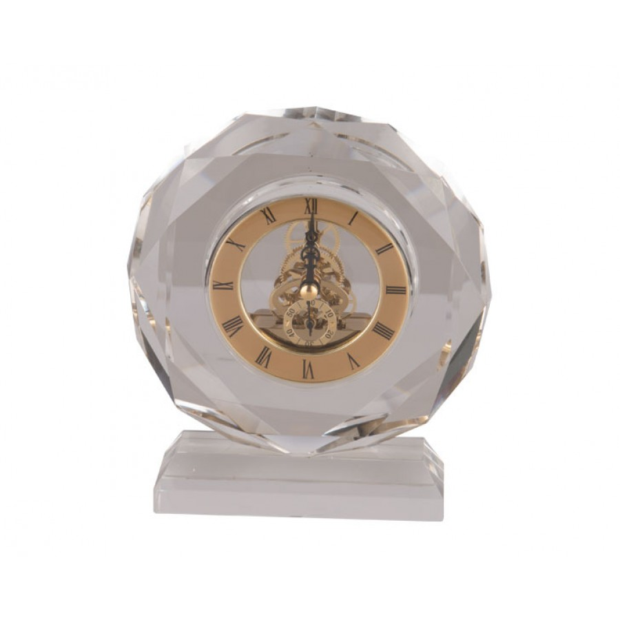 PR48-1011 - Auris Kristal Masa Saati 15x5x17 cm