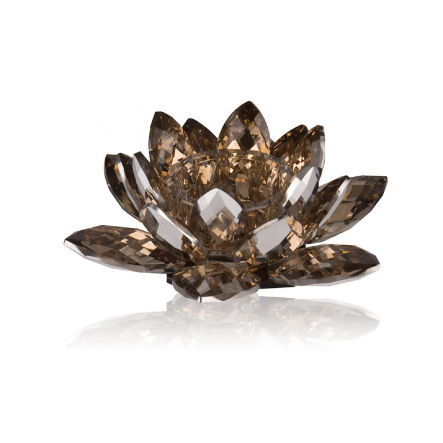 PR48-1015 - Flora Brown Kristal Tealight 20x20x8 cm