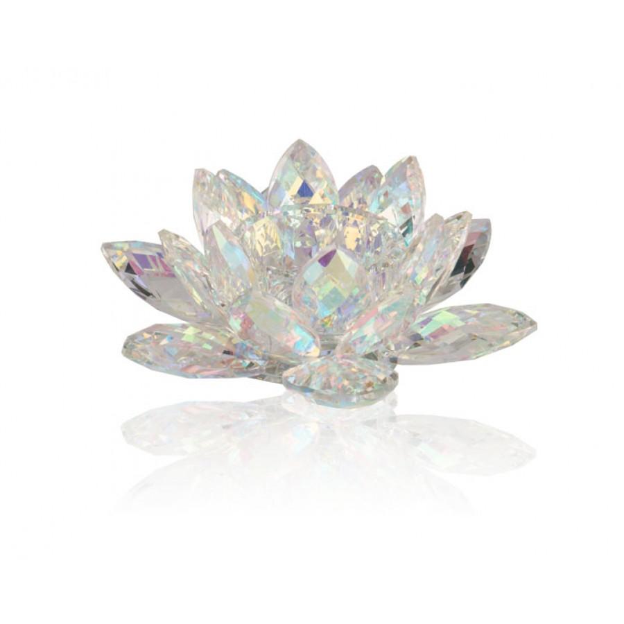 PR48-1021 - Flora Clear Kristal Tealight 20x20x8 cm