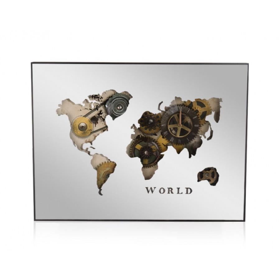 PR49-1009 - World Duvar Saati 80x60 cm