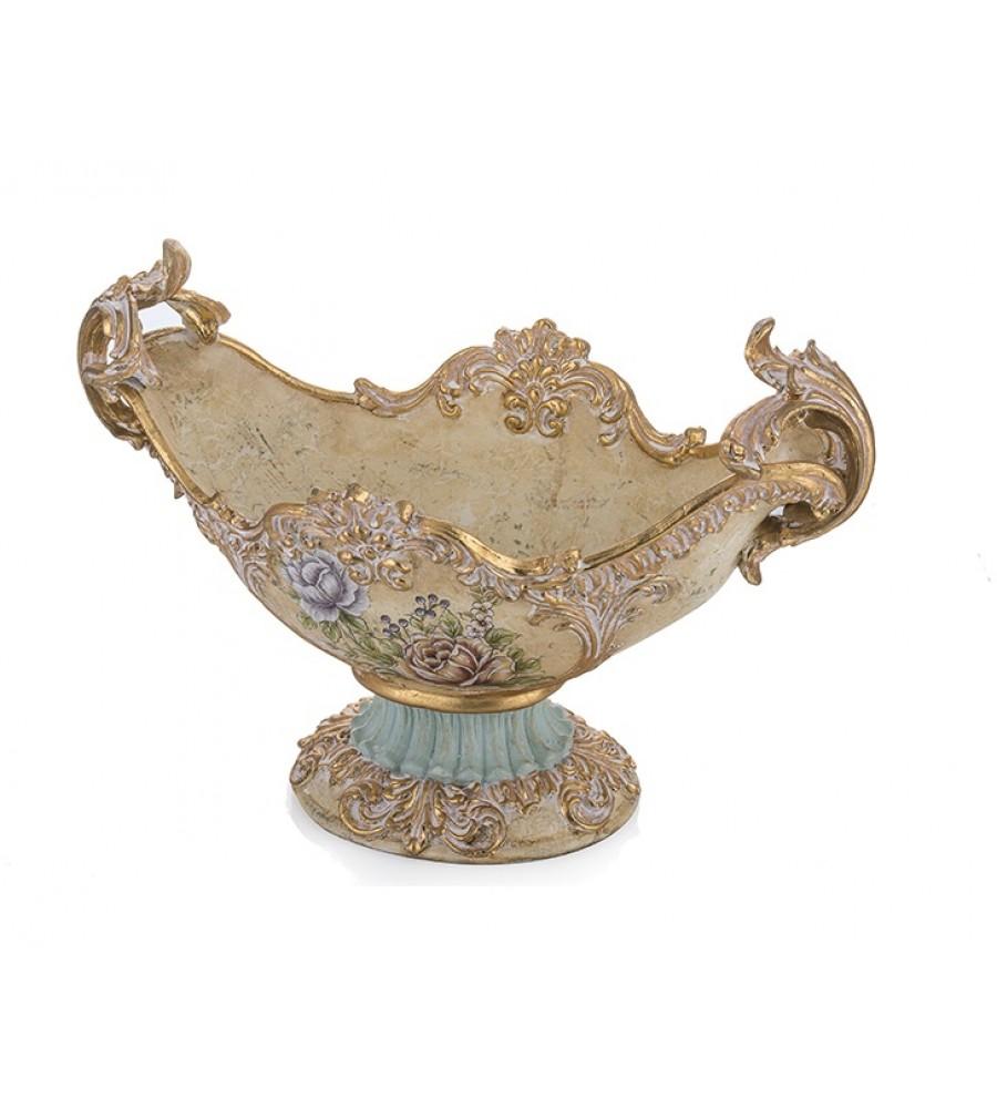 PR58-1006 - Altın-Turkuaz Çiçek Desenli Gondol 30*45